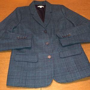 ISAAC MIZRAHI Lined Blue Dress Jacket Blazer